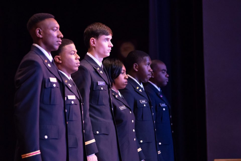 Six ECSU Students Commissioned as U.S. Army Officers