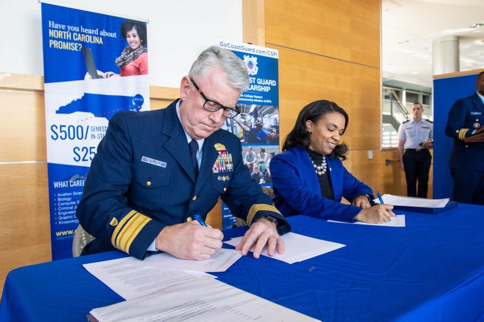 Coast Guard, ECSU Strengthen Relationship with Memorandum of Agreement